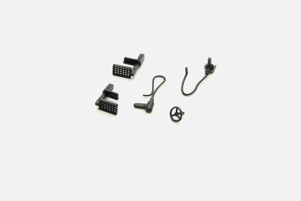 Roco 128472 Teilesatz Treppe, Handrad, Kabel schwarz in H0 Ersatzteil Fabrikneu