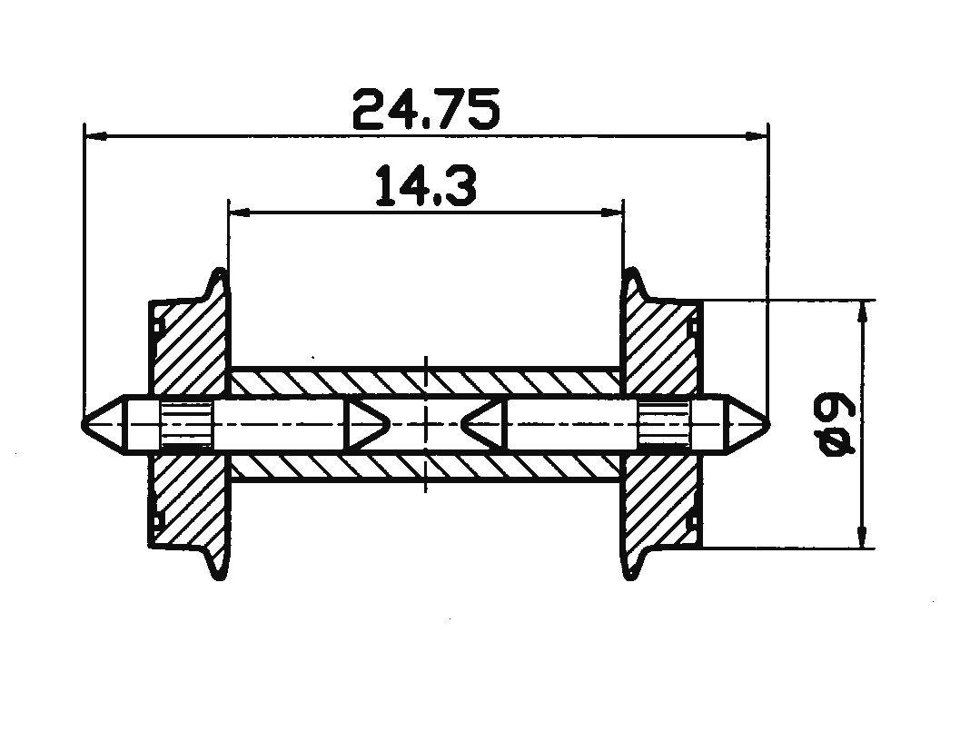 Roco 40191 2x Radsatz DC in H0 Neuware