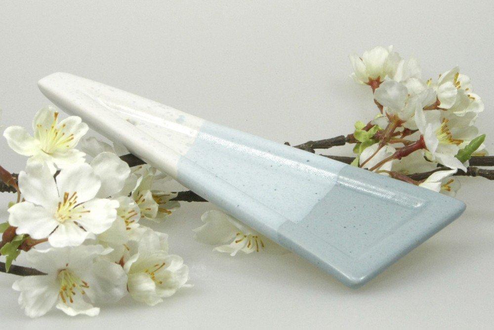 Räucherstäbchenhalter Räucherständer Linea weiß-grau