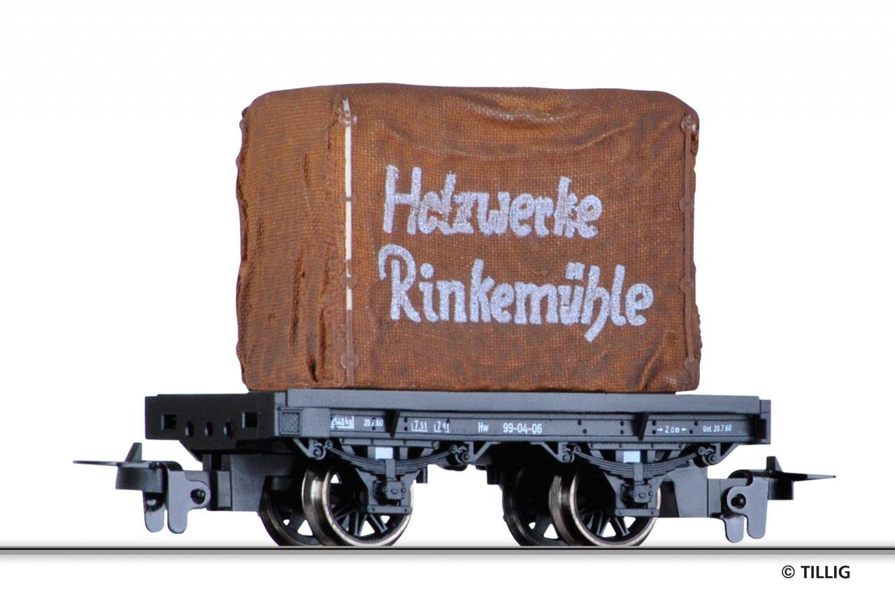 Tillig 15919 Drehschemelwagen Holzwerke Rinkermühle der DR in H0m Fabrikneu