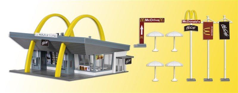 Vollmer 43634 McDonald´s Schnellrestaurant mit McDrive in H0 Bausatz Fabrikneu